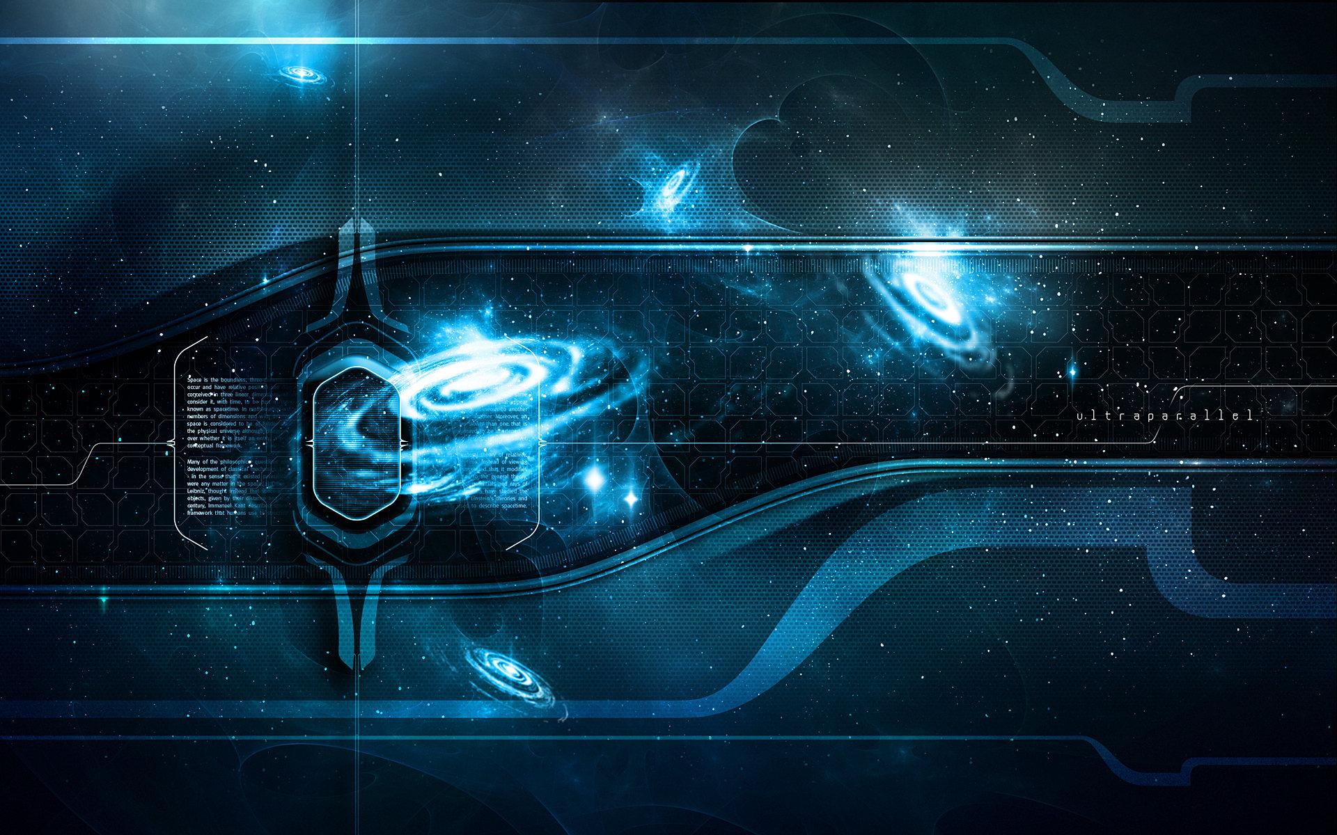 Theme Bin Blog Archive Ultraparallel Quasar Blue HD Wallpaper 1920x1200