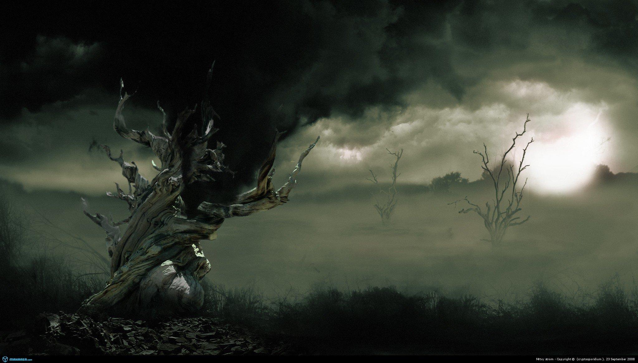 Image Detail For Dark Mysterious Hd Fantasy: [47+] Storm Desktop Wallpaper On WallpaperSafari