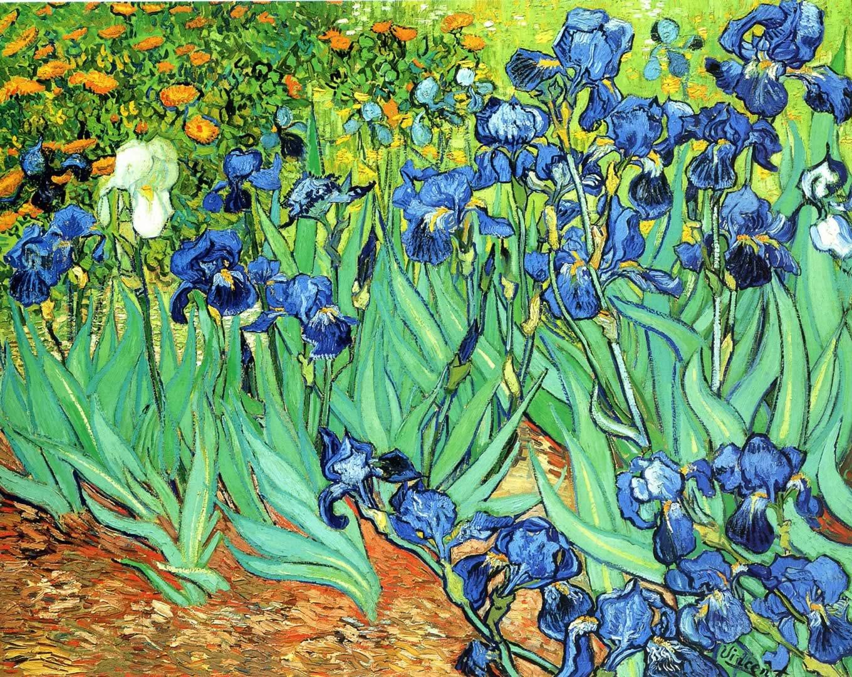 Irises   A post impressionist vincent van gogh art wallpaper picture 1360x1080
