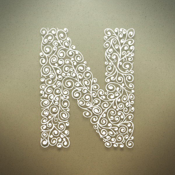 alphabet letter n hd wallpaper