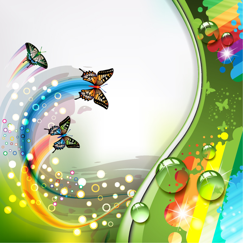 flower and Butterfly background vector Vector   Download 800x800