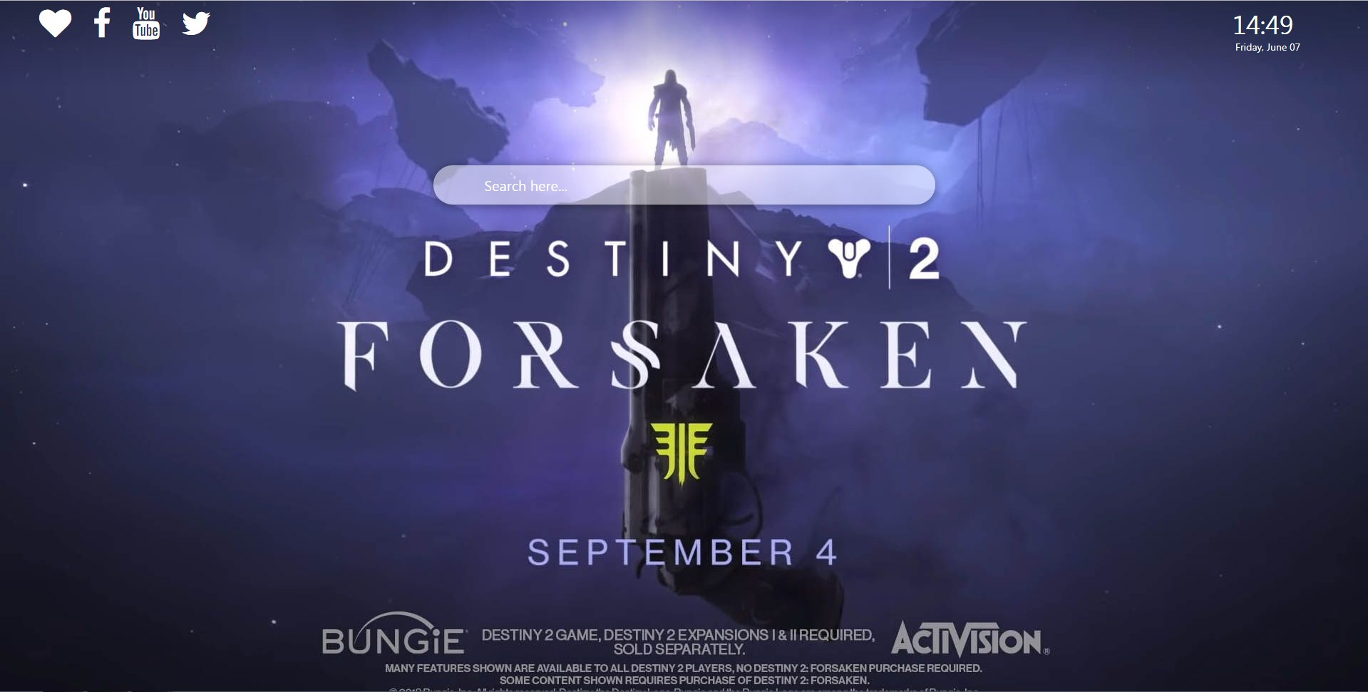 Destiny 2 Wallpapers HD   New Tabsy 1919x971