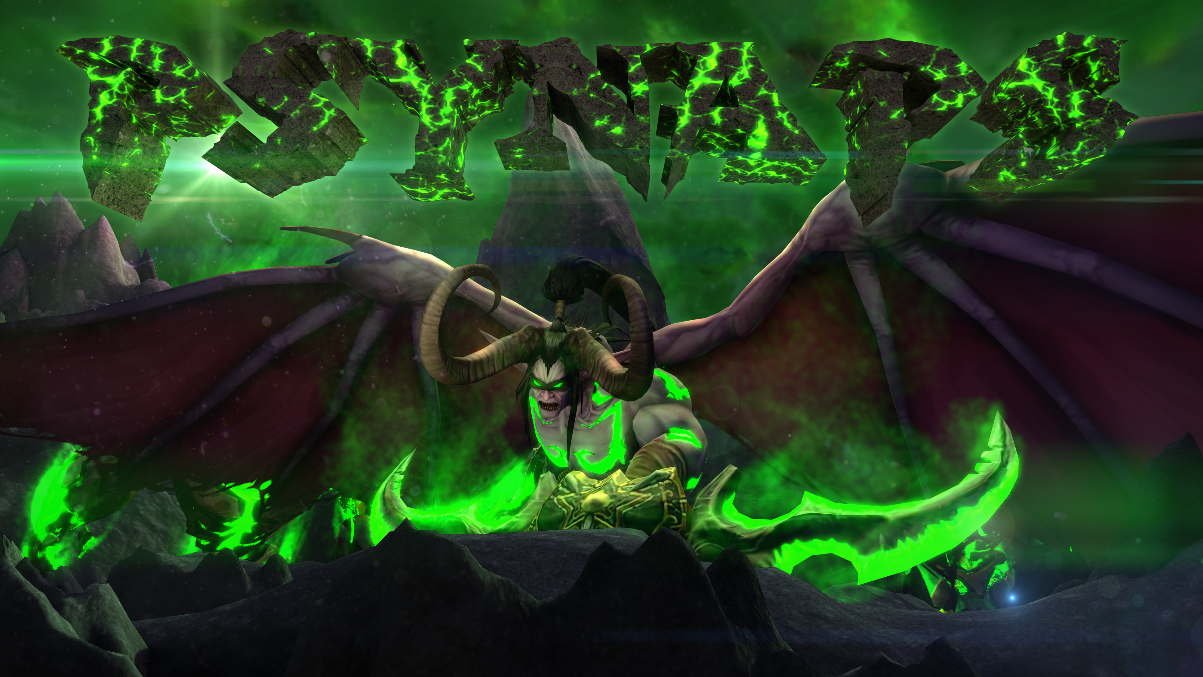 Free Download Wow Legion Illidan Custom Character 4k Wallpaper