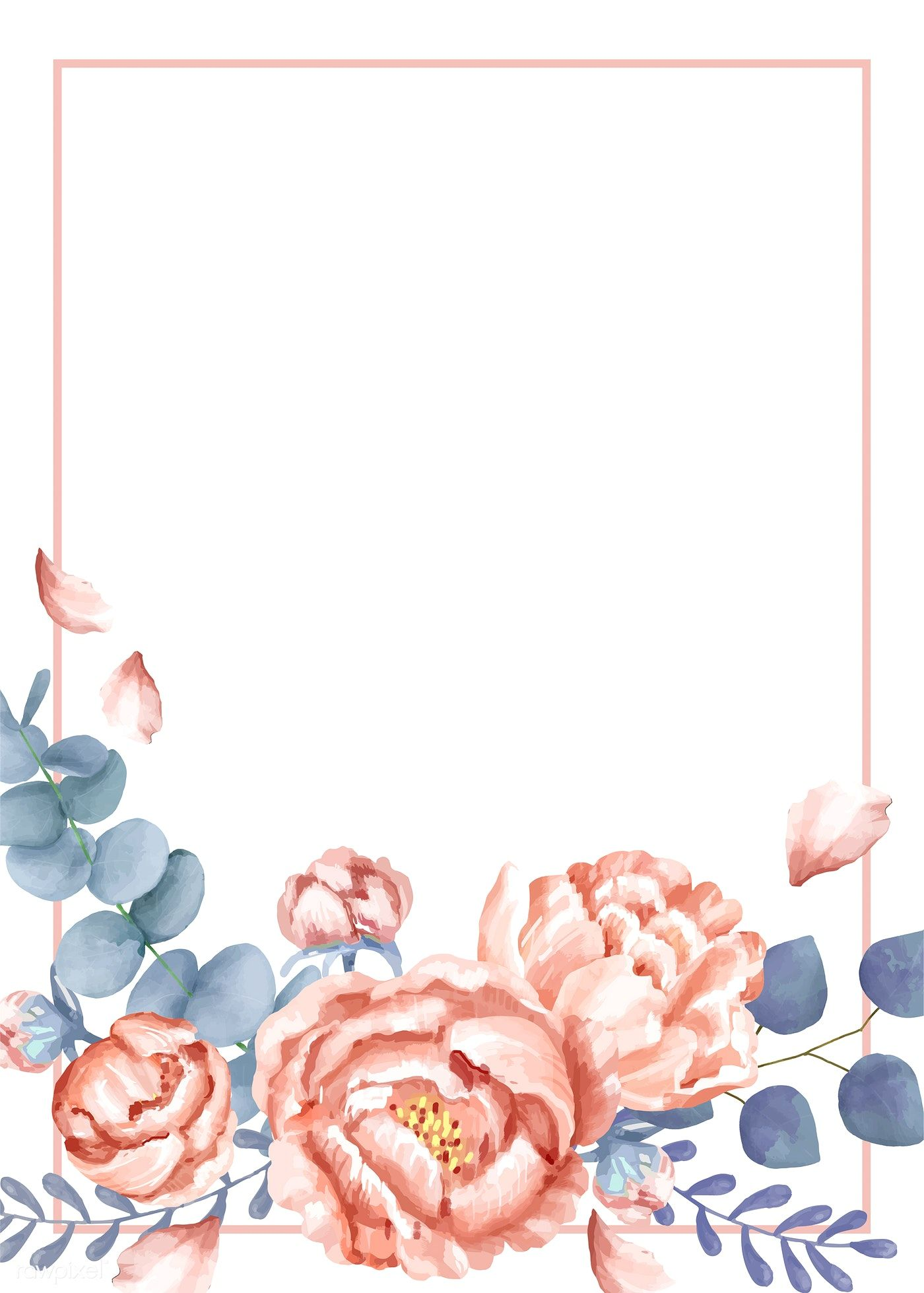 Download premium vector of Invitation card with a floral theme 1400x1959