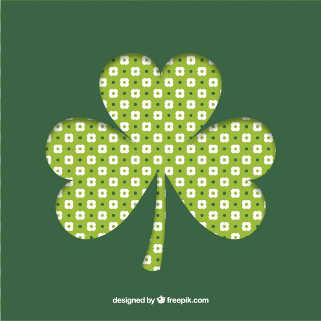 Four leaf clover background Vector Download 626x626