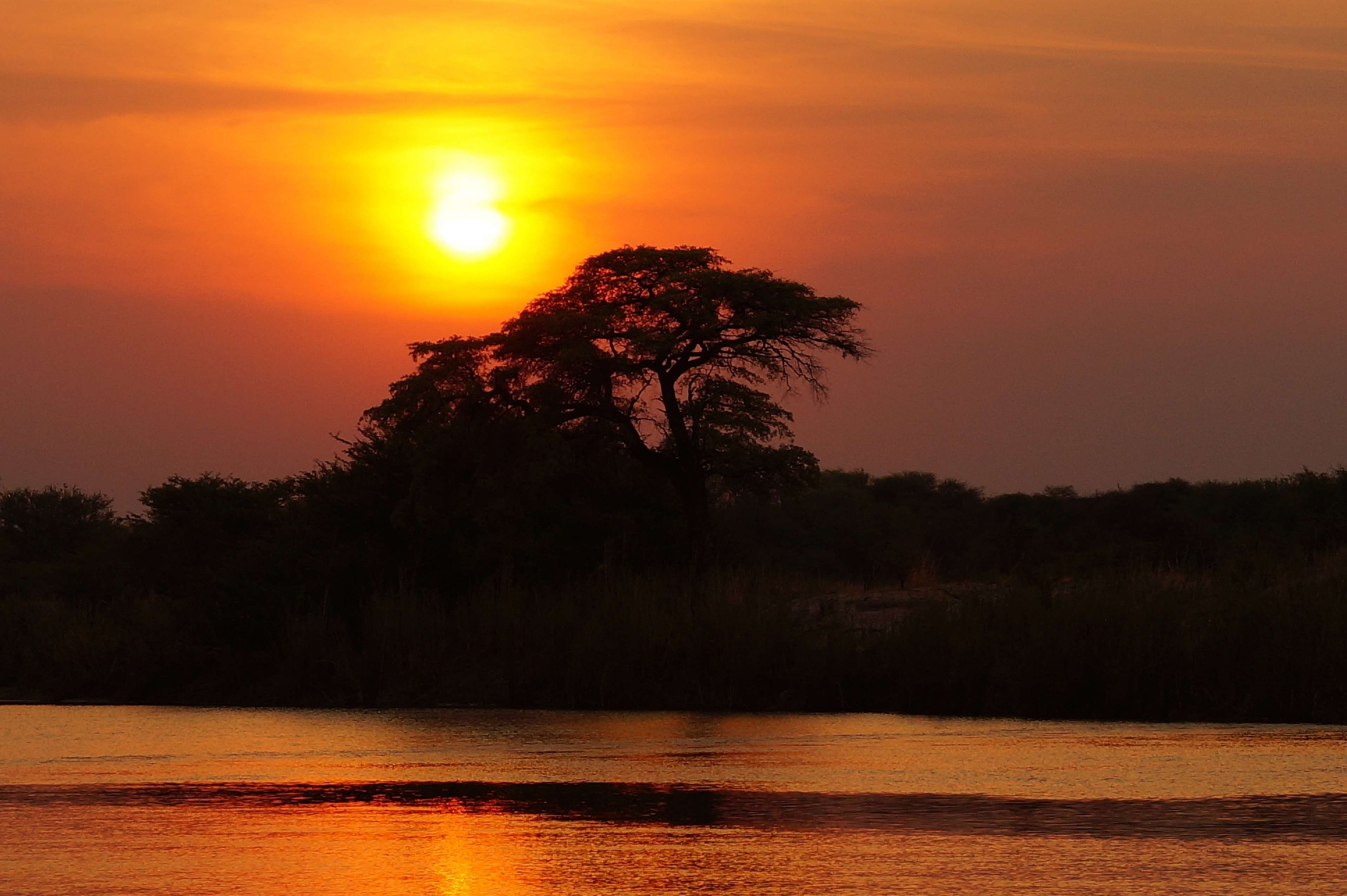 HD wallpaper africa botswana okavango delta sunset twilight 3840x2555
