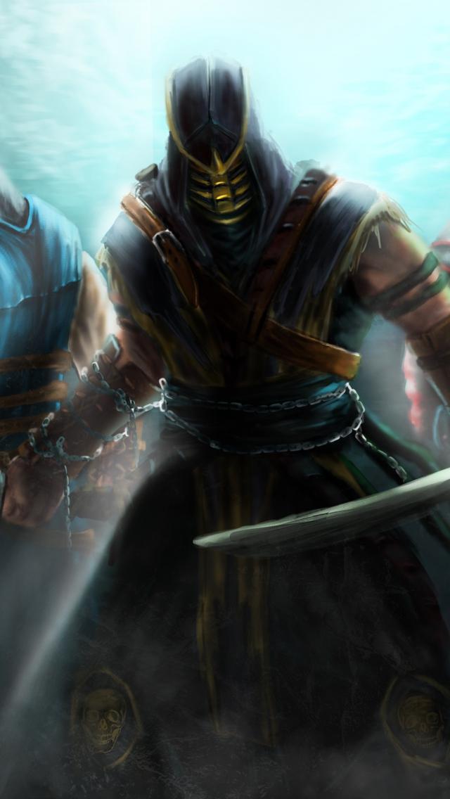 mortal kombat scorpion sub zero ermac assassins 640x1136