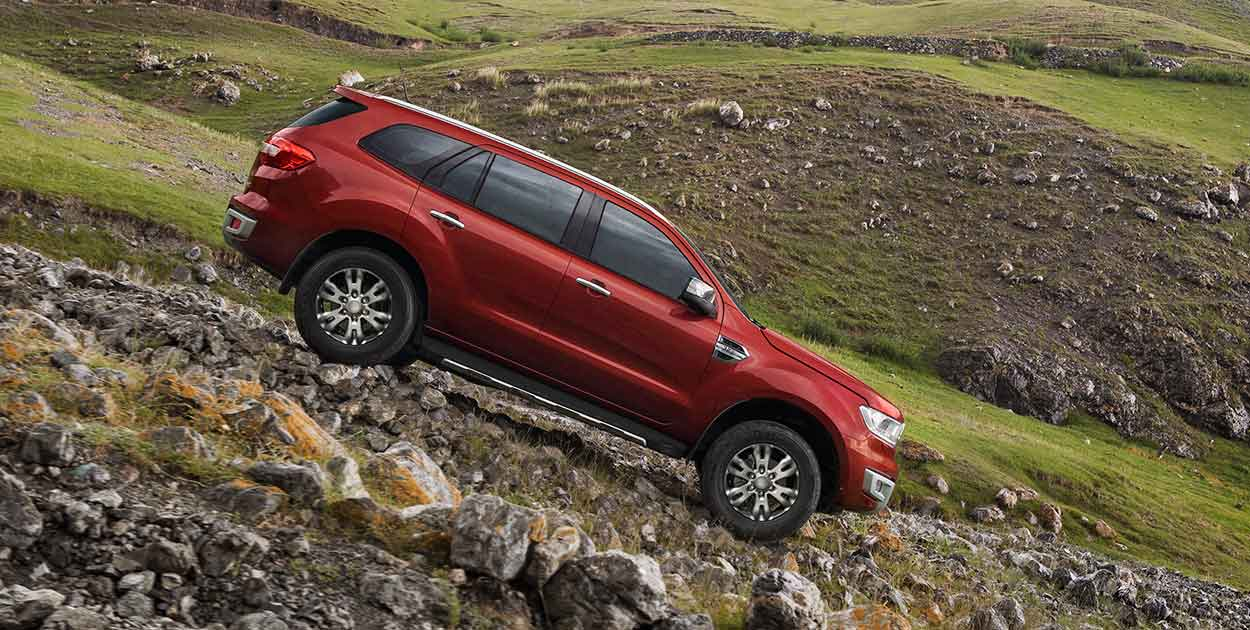 2018 Ford Endeavour downhill wallpaper and images   Latest 1250x630