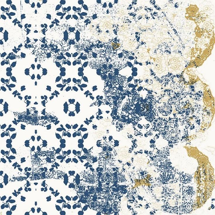 Distressed wallpaper interiors Pinterest 736x736