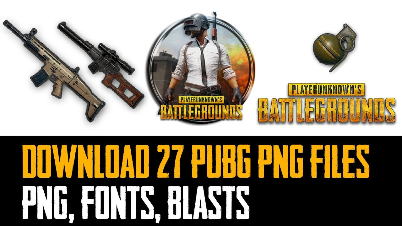 FREE PubG PNG images fonts music for editing 1280x720