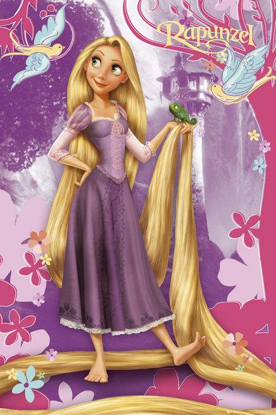 11 Disney Tangled Princess Rapunzel Wear Purple Dress 400x600