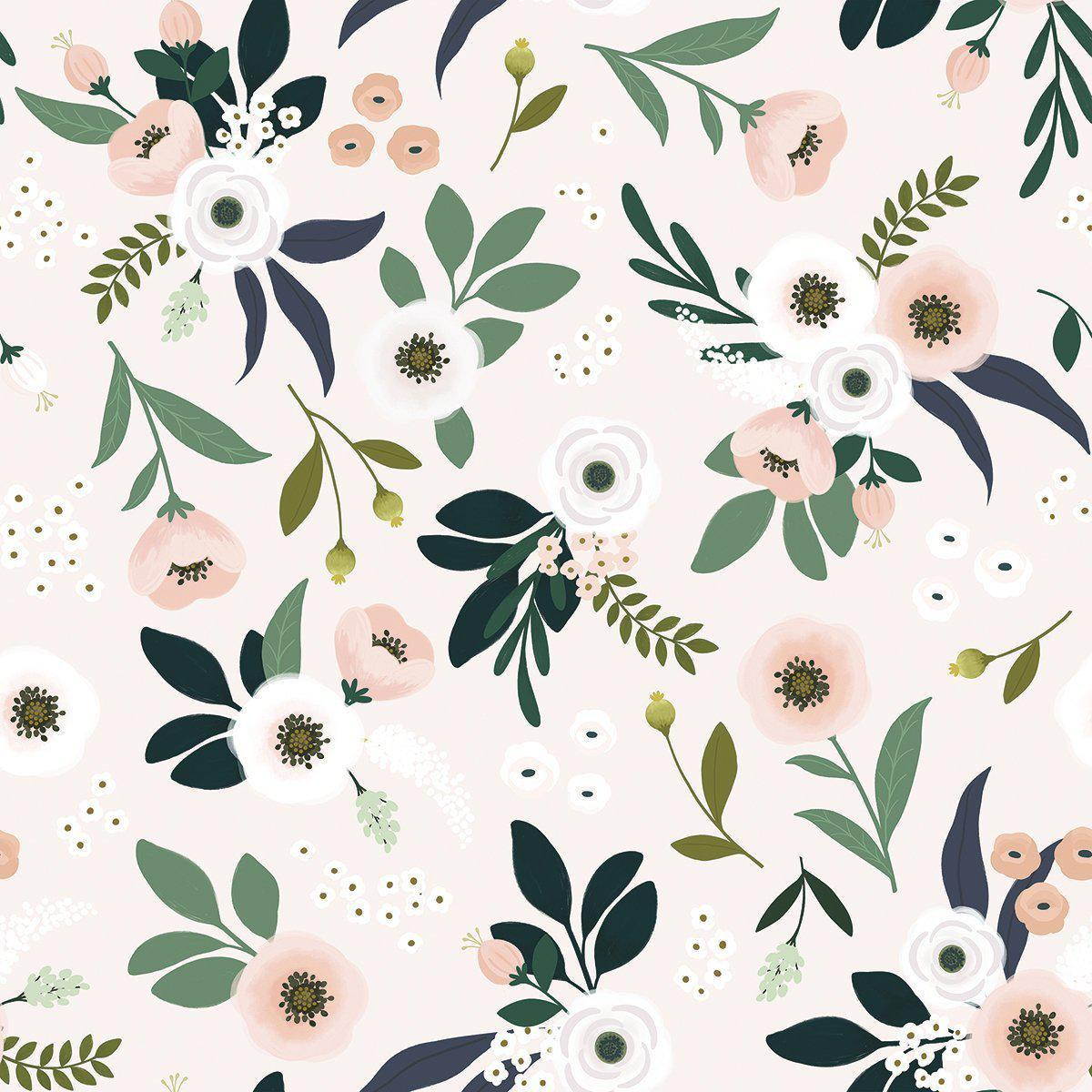 Botanical Wallpaper   Pink DS   Wallpaper Lilipinso Bobby Rabbit 1200x1200
