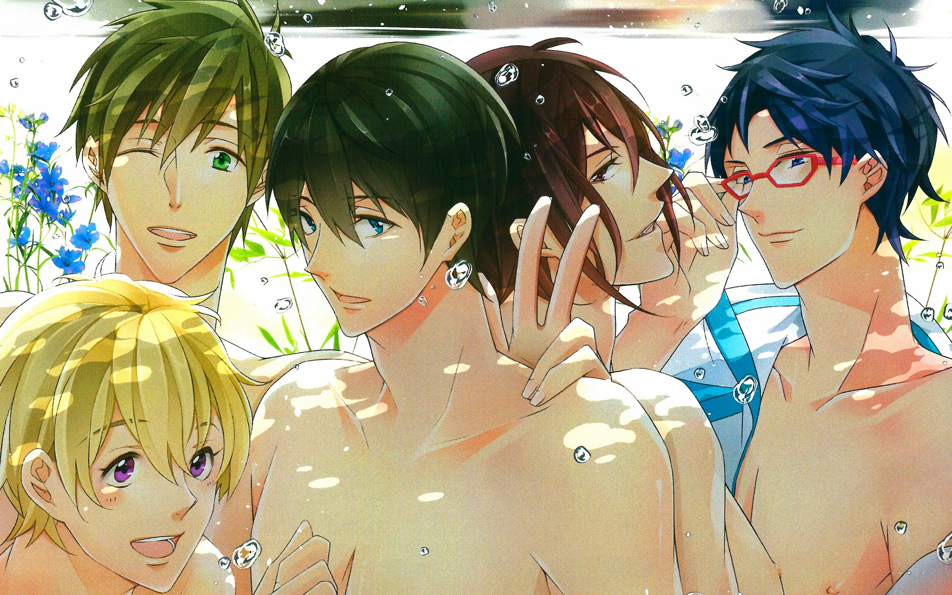 Anime Boys Underwater A89 HD Wallpaper 1920x1200
