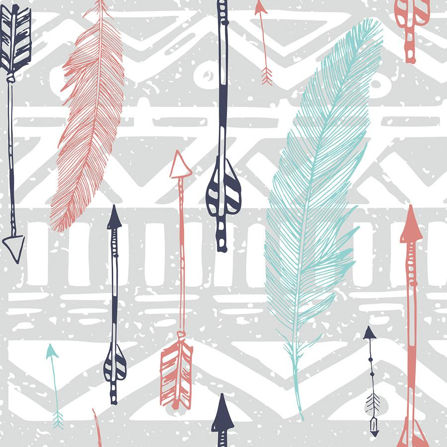 Feathers and Arrows Print Removable Wallpaper in 2019 Wallpaper 900x900