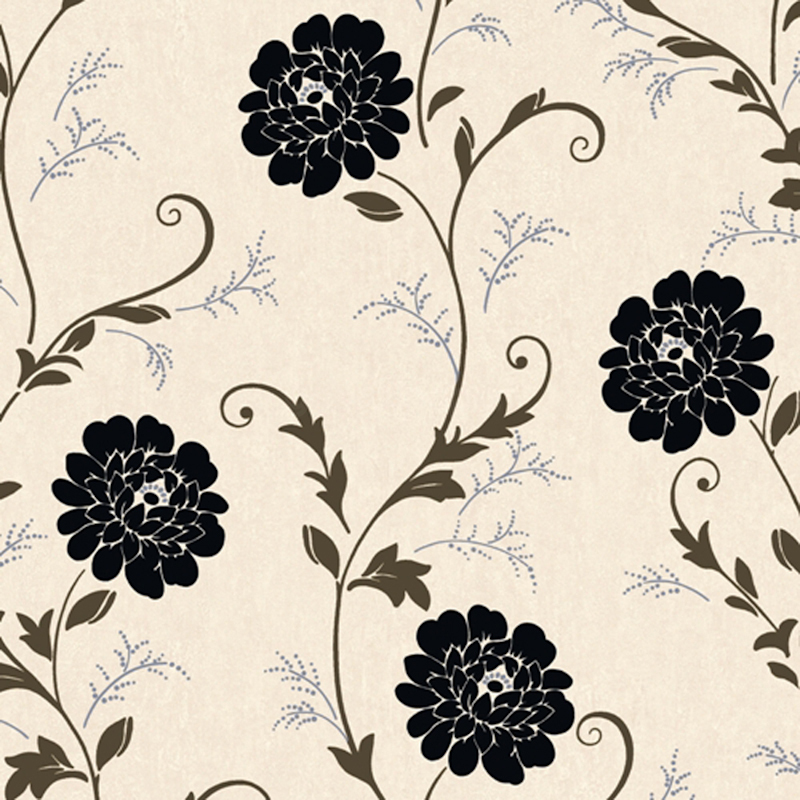 Debona Wallpaper Cream Black Floral Design Flower Leaf Roll BNIB Gemma 800x800
