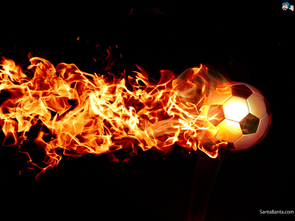 The Gallery For Flaming Football Background Images: Flaming Soccer Ball Wallpaper
