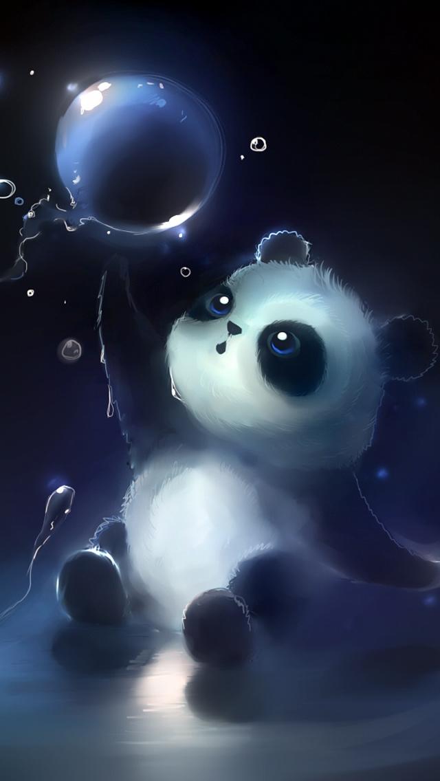 Panda Magic Bubbles iPhone 5s Wallpaper Download iPhone Wallpapers 640x1136