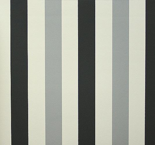 Fredrika Stripe Wallpaper Black white and grey striped wallpaper 534x497
