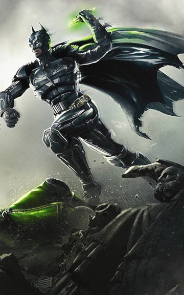 Batman Superhero Illustration Android Wallpaper download 360x576