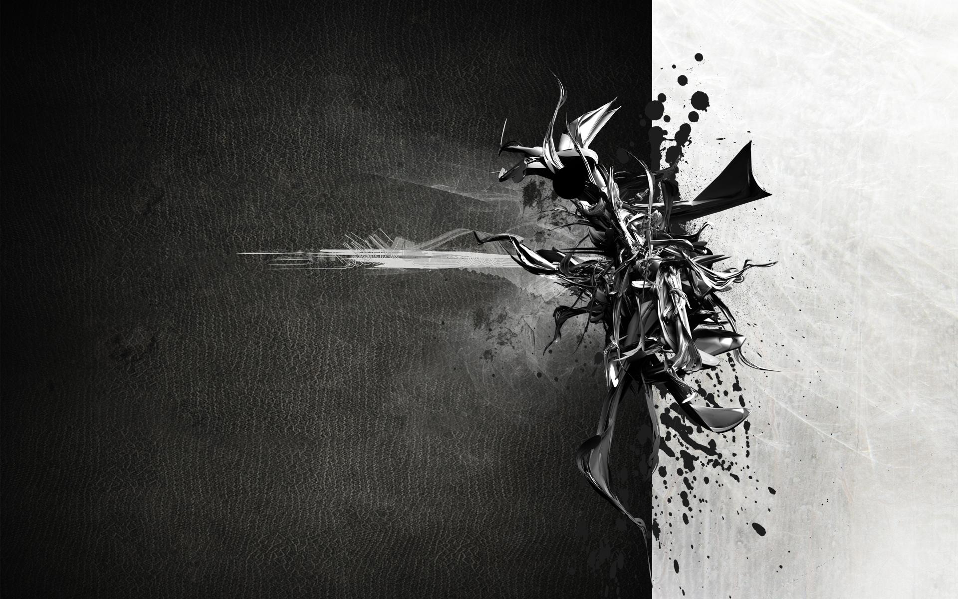 Abstract black white wallpaper mehro 1920x1200