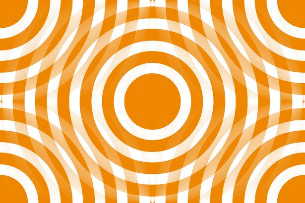 Background Wallpaper Image Orange And White Interlocking Concentric 615x410