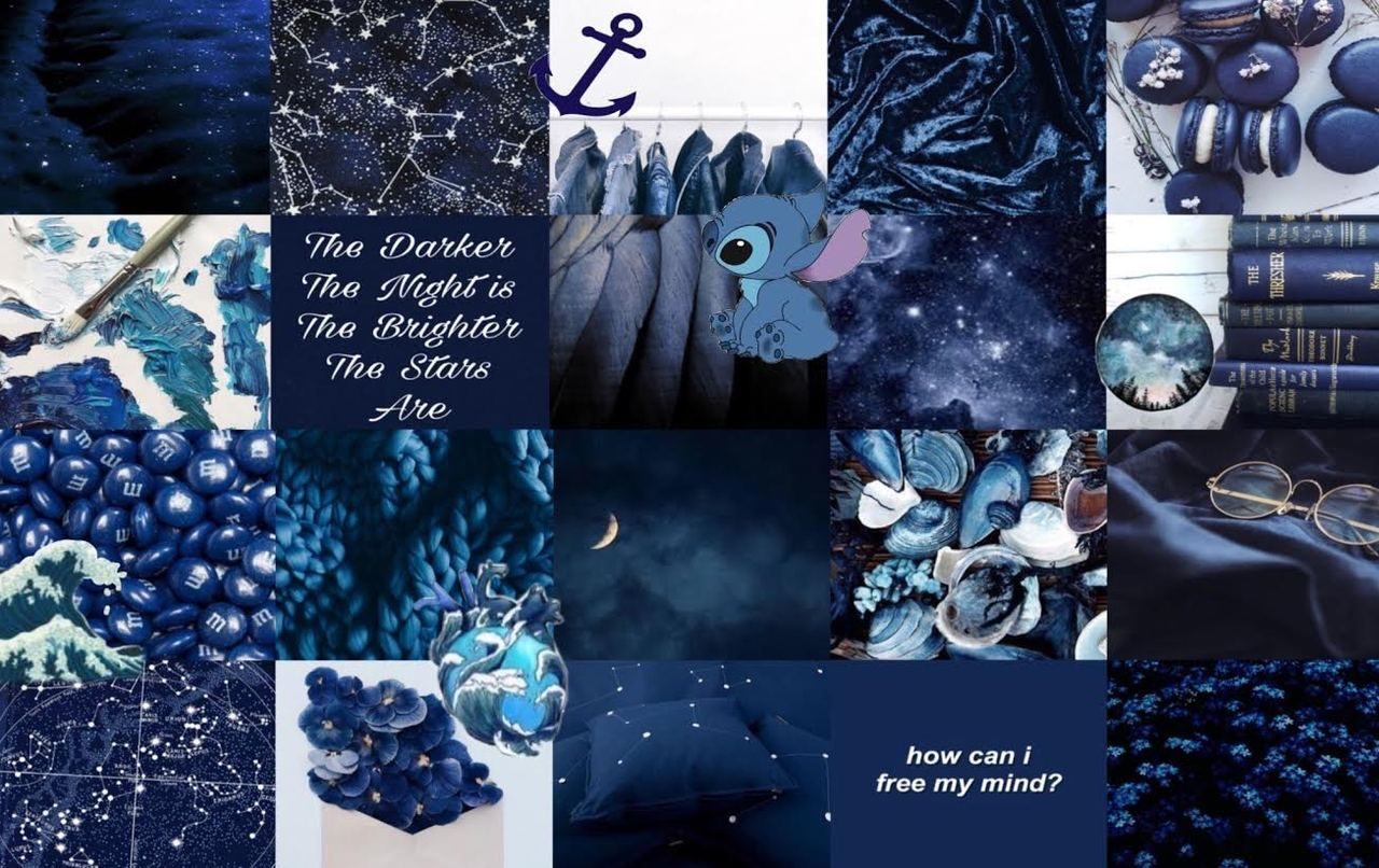 Dark and Blue Aesthetic Laptop Wallpapers   Top Dark and Blue 1280x806
