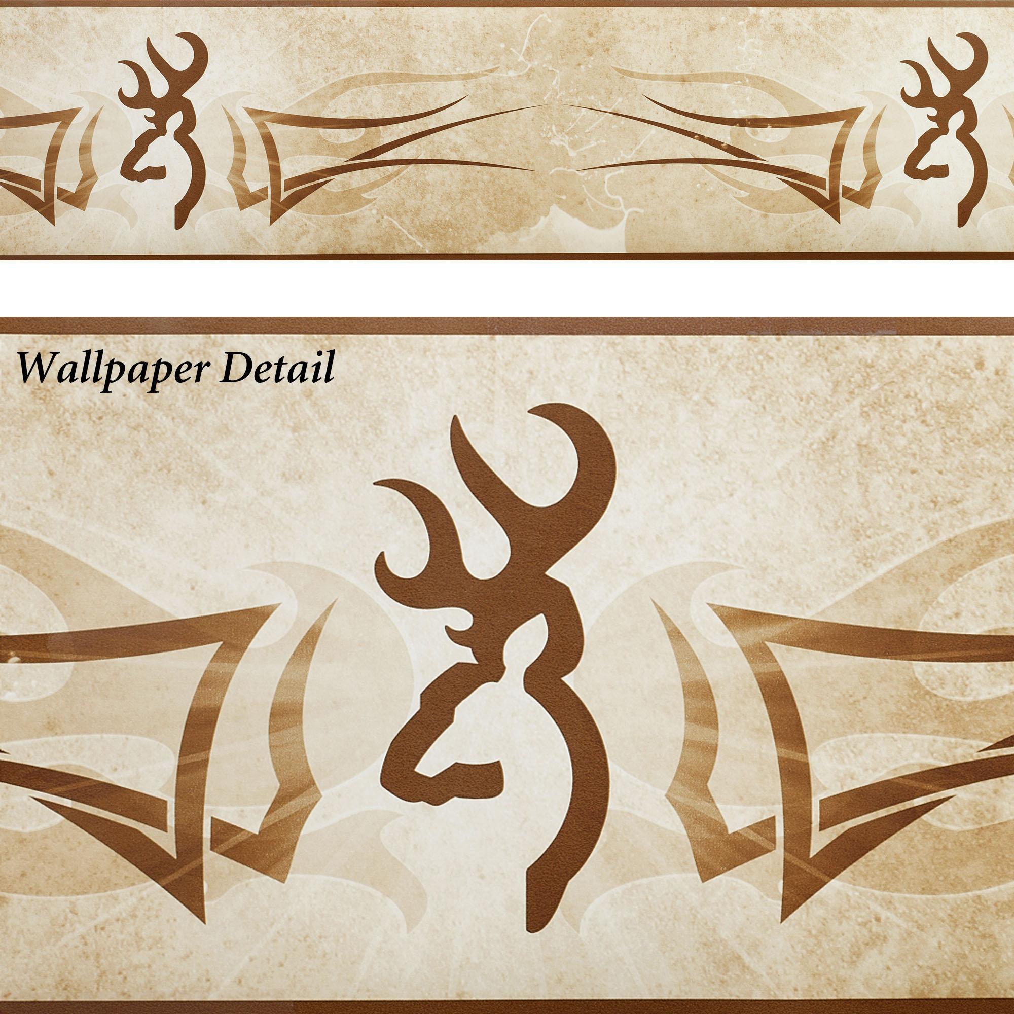 Home BrowningR Buckmark Wallpaper Border Multi Warm 2000x2000