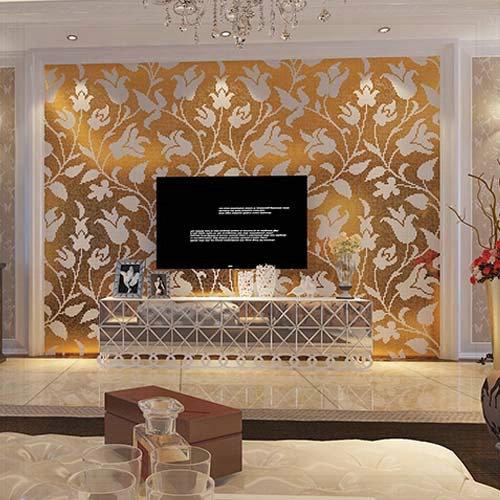 Wallpaper Puzzle Kitchen TV Backsplash Wall Tile Home Decor Gold 500x500