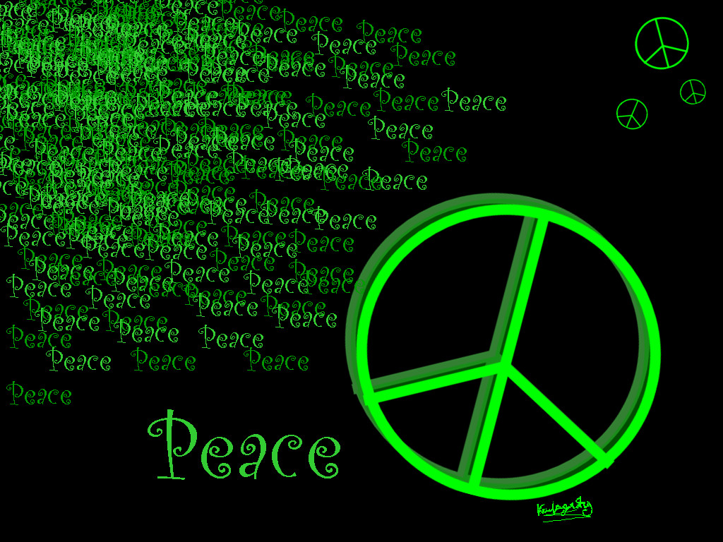 Colorful Peace Signs Wallpaper 1024x768