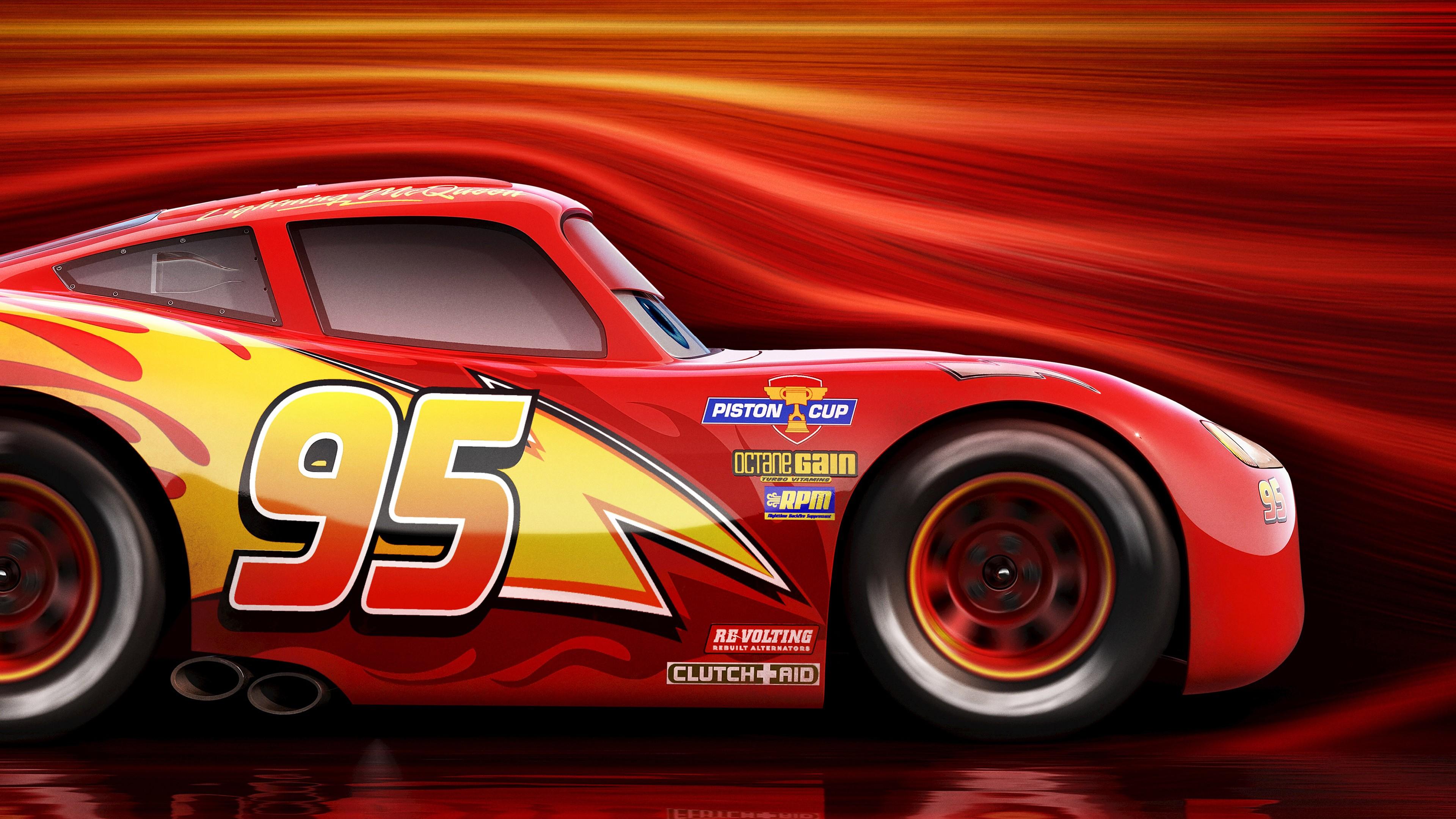 Lightning Mcqueen Cars 3 4K Wallpaper 1080p Wallpaper 3840x2160