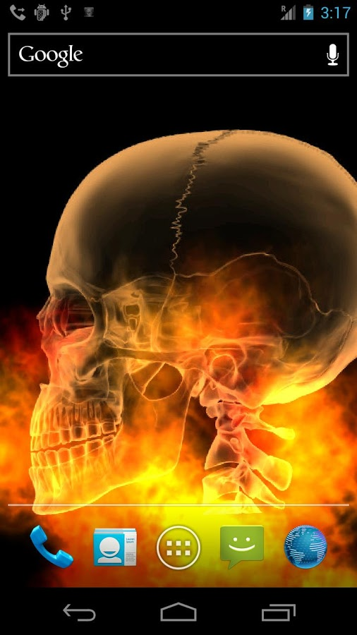 Skull Fire Live Wallpaper Aplikacje Android w Google Play 506x900