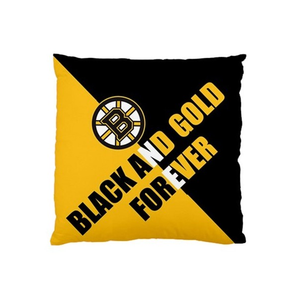 Boston Bruins Wallpaper Black And Gold Forever Pillow Cushion Case 600x600