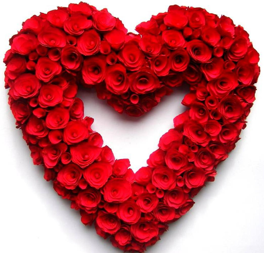 Red rose heart wallpaper wallpapersafari - Pics of roses and hearts ...