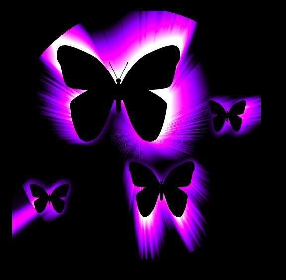 Neon Backgrounds for Girls Purple Neon Butterflies Graphics Code 576x564