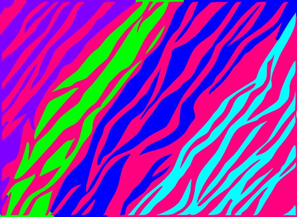 Neon Blue Zebra Print Backgrounds Pink and purple zebra print 600x439