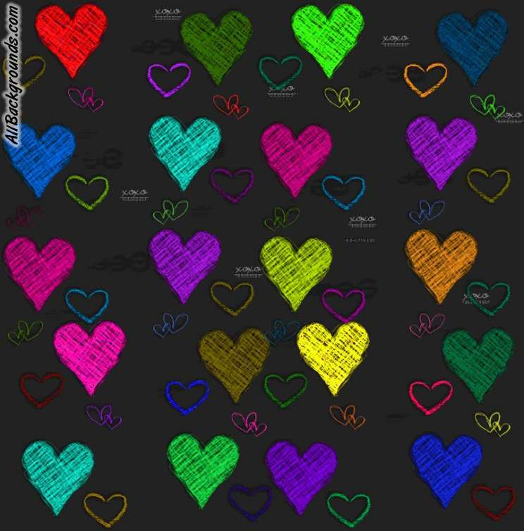 Colorful Heart Backgro...