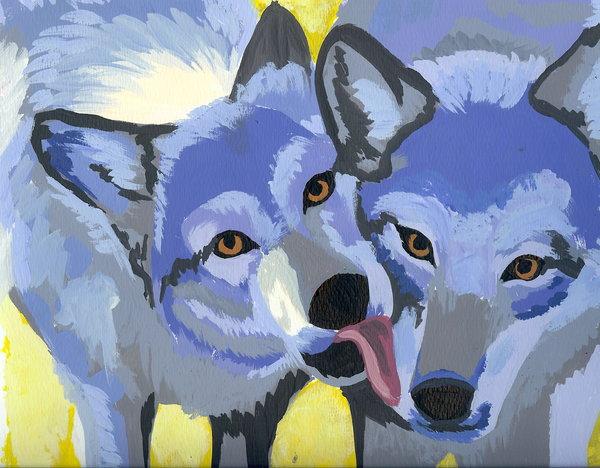 Trippy Wolf Wallpaper Trippy wolves by loveleepeeps 600x468