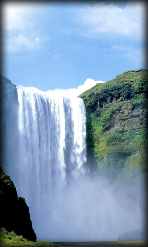 Download Waterfall Live Wallpaper for your Android phone 480x800