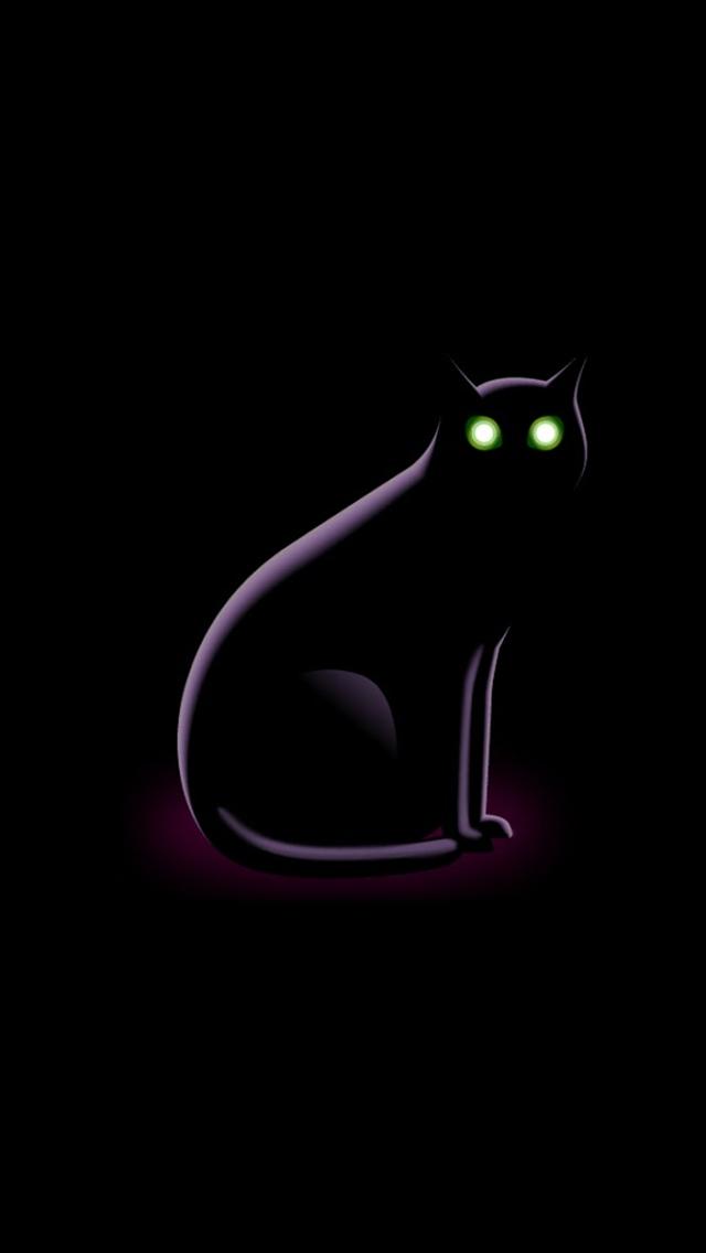Black Cat Iphone Wallpaper Wallpapersafari