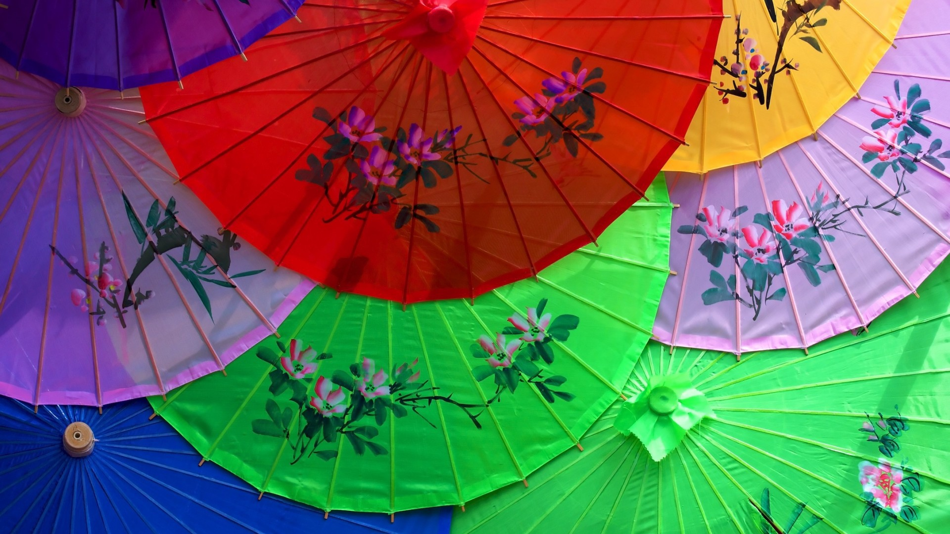 Japanese umbrellas wallpapers and images - wallpapers, pictures ...