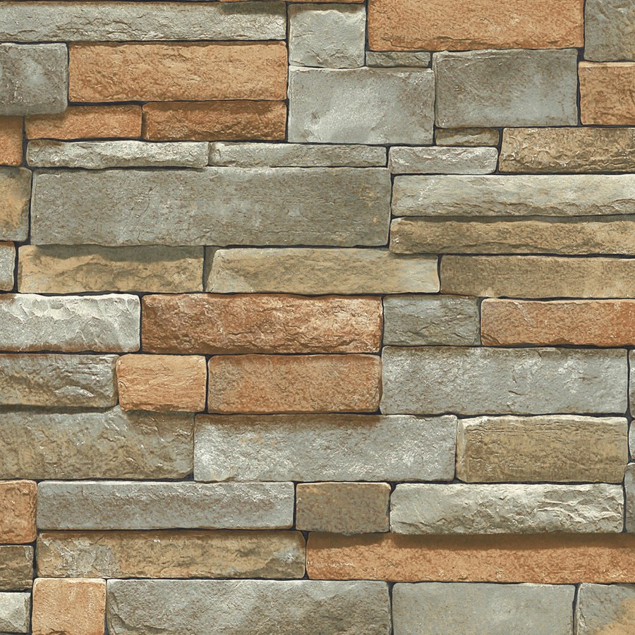 Ledge Stone Brown Peelable Vinyl Prepasted Wallpaper Lowes Canada 900x900