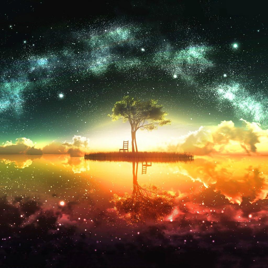 Dreamlike Fairy World iPad Wallpaper Download iPhone Wallpapers 1024x1024