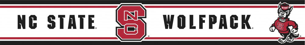 North Carolina State Wolfpack Prepasted Border   College Wallpaper 1000x149