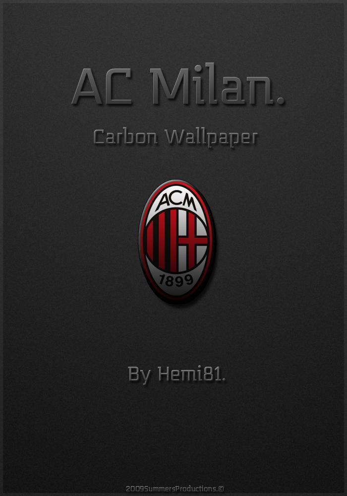 AC Milan Carbon Wallpaper  by Hemingway81 700x1000
