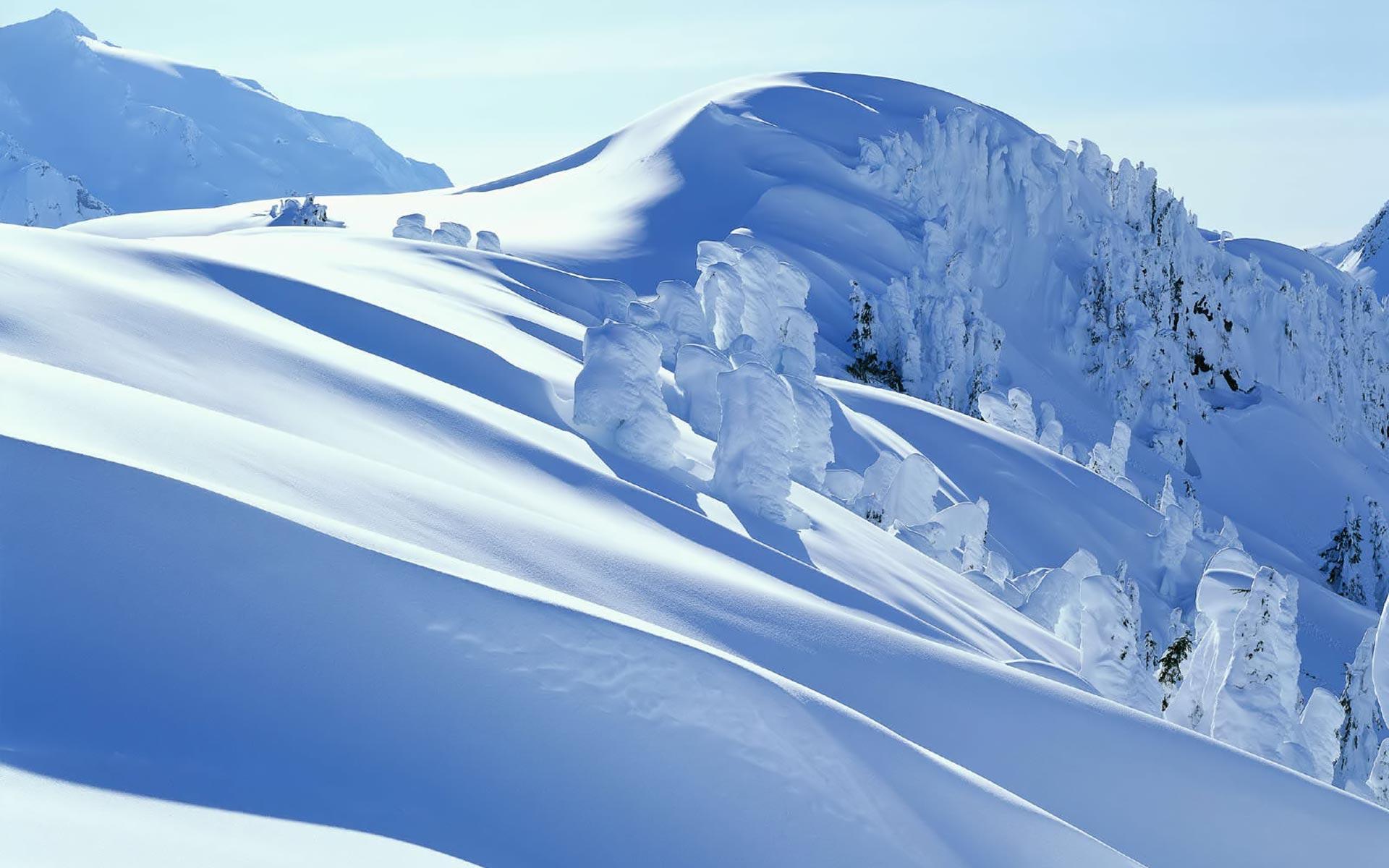 snowy mountains wallpaper