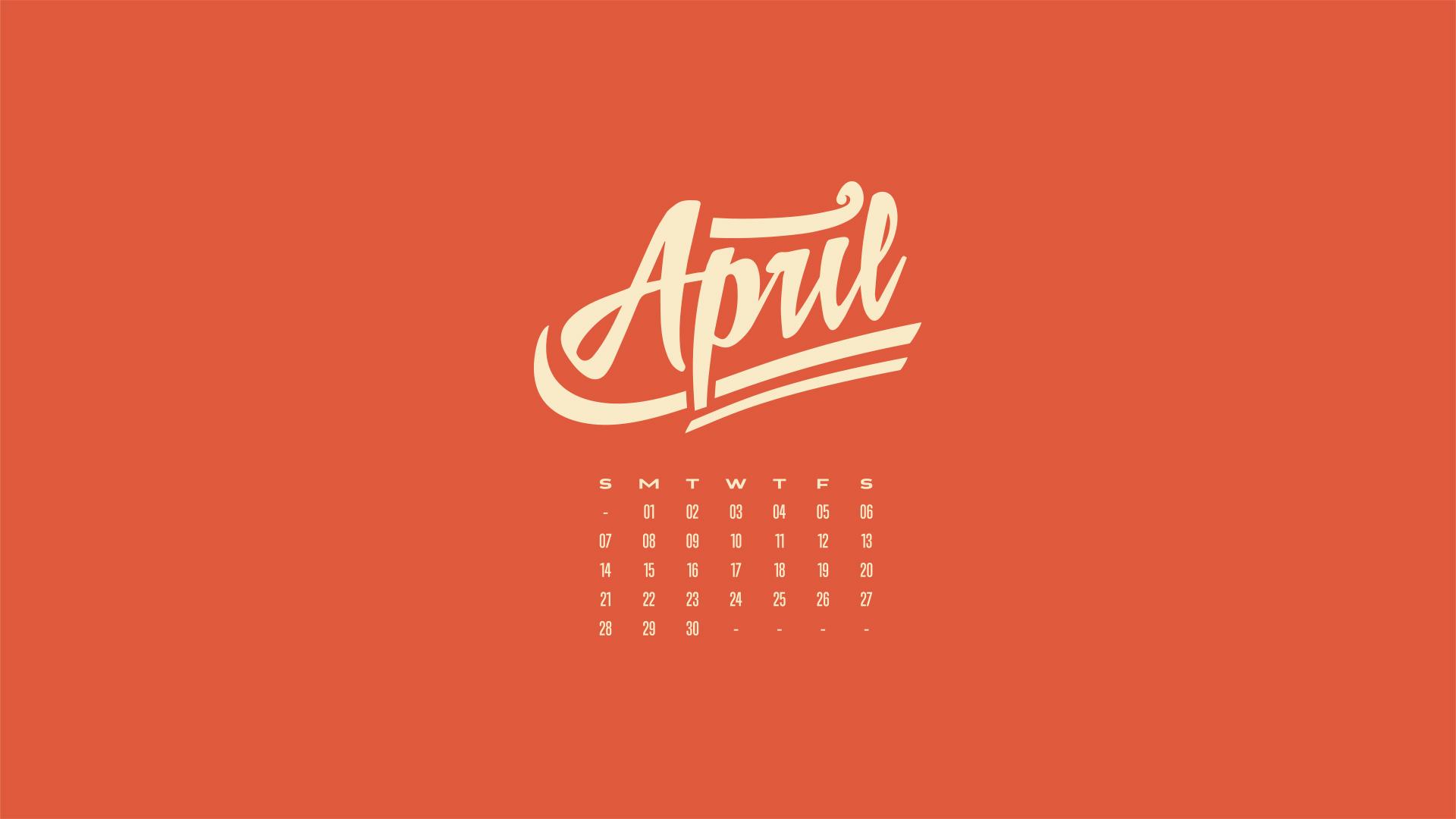 April Wallpaper Calendar 1920x1080