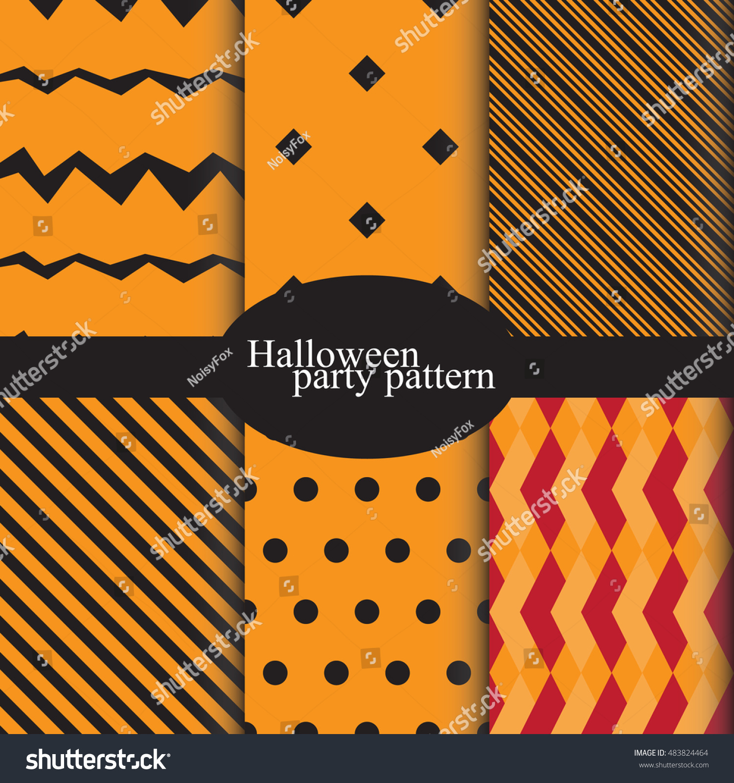 Set Halloween Backgrounds Collection Seamless Patterns Stock 1500x1600