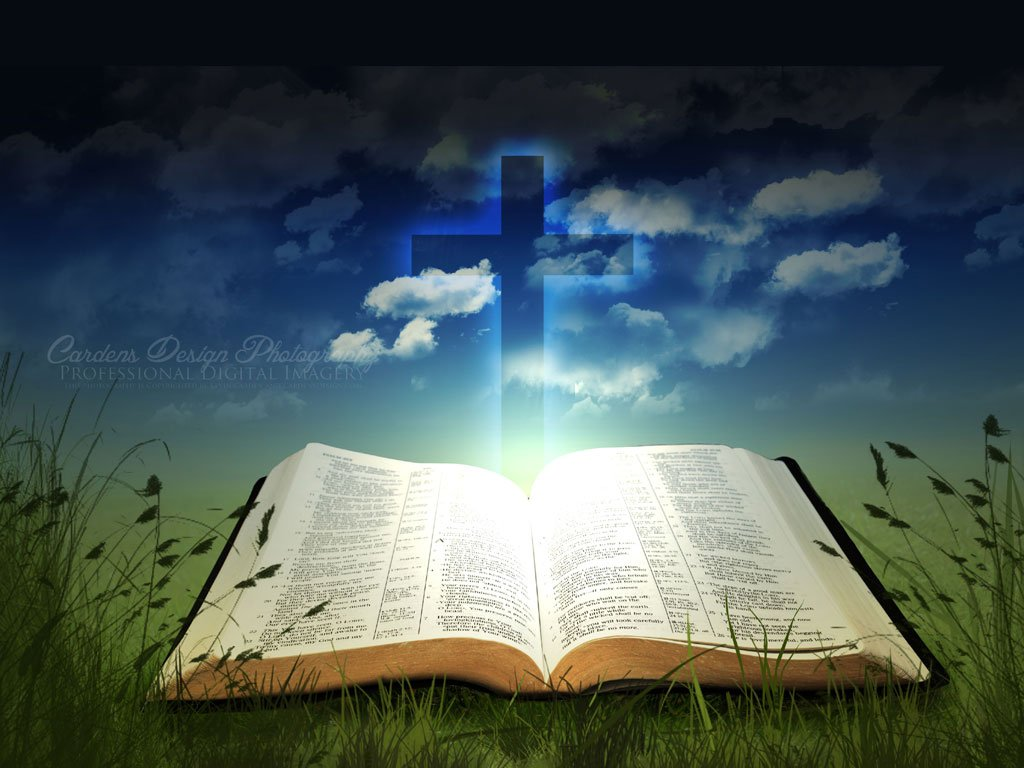 Cross and Bible Wallpaper Download 1024x768