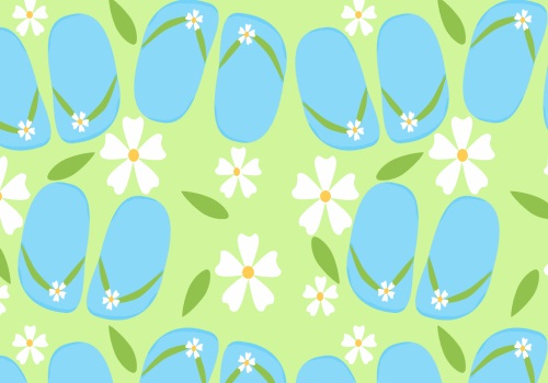 Cute Blue Flipflops Summer Background 500x350