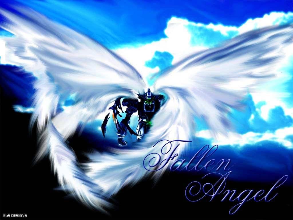 fallen angel   gundam wing Wallpaper 1024x768